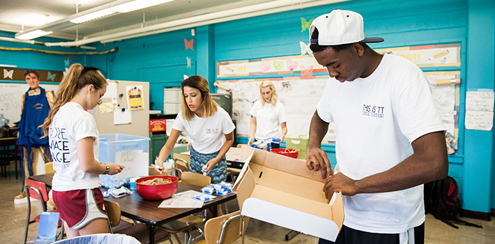 Students participate in SERVE.