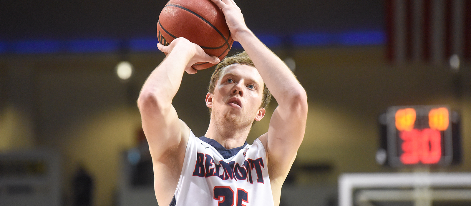 Evan Bradds Breaks Belmont's NCAA Division I Career Scoring Mark With 1,921 Points