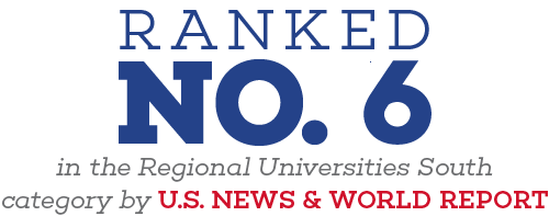 Ranked Number 6 in the Regional Universities South Category by U.S. News & World Report
