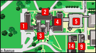 Campus Maps line Campus Tour Directions and Parking Info