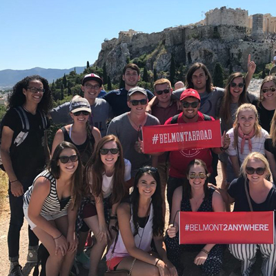 Belmont students studying abroad
